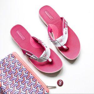 Sperry Top-Sider Pink Nautical Rope Flip Flops